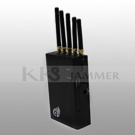 5 Antennas Handheled Signal Jammer
