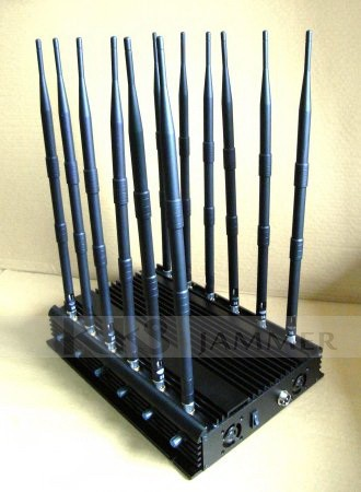 12 Antennas Adjustable Signal Jammer