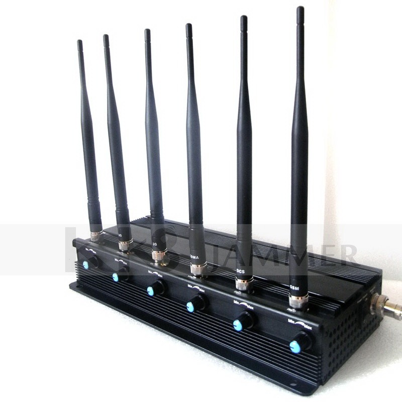 6 Antennas Adjustable Signal Jammer