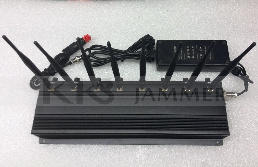 8 Antennas Adjustable Signal Jammer