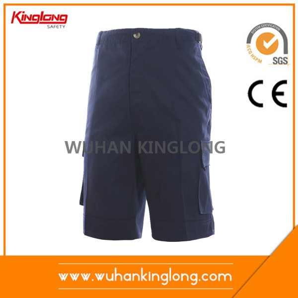 6 Pockets Cotton Navy Summer Cargo Shorts